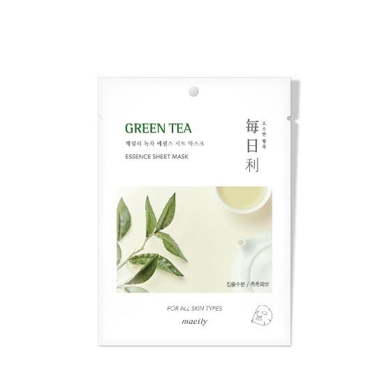 Mặt Nạ Tinh Chất Trà Xanh Dưỡng Ẩm Và Ngăn Ngừa Mụn Hình Thành Maeily Green Tea Essence Sheet Mask 21ml